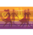 Dancing colorful background vector image vector image