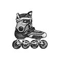 dotwork roller skates vector image