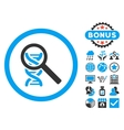Explore DNA Flat Icon with Bonus vector image vector image