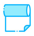 fabric roll icon outline vector image vector image