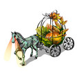 festive decoration for halloween isolated on white vector image vector image