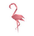 flamingo origami low poly style polygonal mosaic vector image vector image