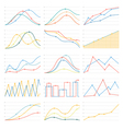 flat linear graph chart vector image