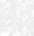 Frost Background with Snowflakes vector image