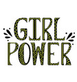 girl power with doodles vector image vector image