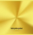 golden radial gradient with scratches metallic vector image vector image