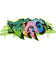 Graffito - time vector image