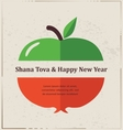 Greeting card for Jewish New Year rosh hashana vector image vector image