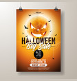 halloween sale flyer with vector image vector image