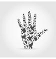 Hand a bird vector image vector image