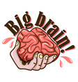 Hand and brain design vector image vector image