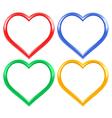 Heart frame set vector image vector image