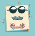 hipster mustache and sunglasses carnival vector image vector image