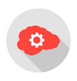human brain gear circle icon vector image