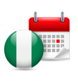 Icon of national day in nigeria vector image vector image