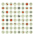 icons thin red all business vector image vector image