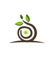 landscape design solutions icon vector image vector image
