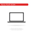laptop icon flat design style vector image