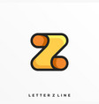 letter z template vector image vector image