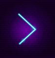 line arrow neon sign vector image vector image