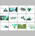 minimal brochure templates with triangular design vector image vector image