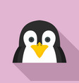 penguin icon flat style vector image vector image
