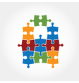 puzzle design template vector image