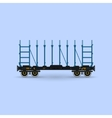 Railway Platform Isolated vector image vector image