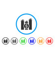 realty price charts rounded icon vector image vector image