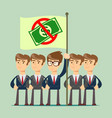 rejection money concept vector image vector image