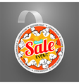 Round wobbler design template Autumn sale event vector image