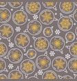 seamless christmas pattern balls and snowflakes vector image vector image