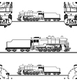 seamless pattern of a steam locomotive vector image
