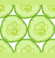 seamless pattern of cucumber slice vector image vector image