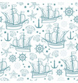 seamless pattern on the marine-themed vector image vector image