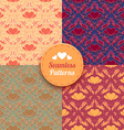 seamless patterns tiling vector image vector image
