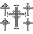 set crosses vector image