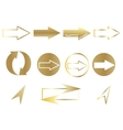 Set of arrows web icons vector image vector image
