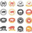 Set of butcher shop labels and design elements vector image vector image