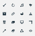 set of simple icon icons vector image vector image
