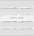 set of torn paper stripes paper texture with vector image vector image
