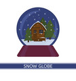 snow globe with house isolated vector image