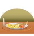 stealing lunch vector image