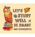 Study learning positive idea color card with sign vector image vector image