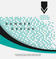 stylized cyan banner vector image vector image