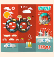 Transport - Export Import Red retro Brochure vector image
