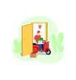 vegetable delivery door to door vector image vector image