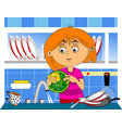 wash the dishes vector image