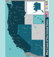 west coast united states vector image vector image