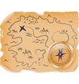 ancient treasure map vector image